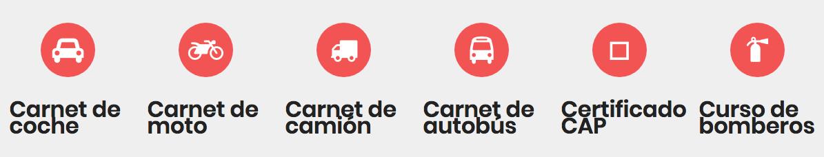 Autoescuela Palomero - Tipos carnet conducir