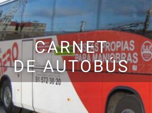 Carnet de Autobús permiso D